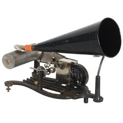 Puck-Type Lyre Shaped Cylinder Phonograph