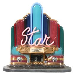 Jerry Berta Star Theater Neon Sculpture