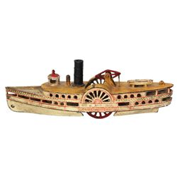 Wilkins Cast Iron Passenger Steam Paddle Boat