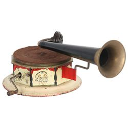 Bingophone Tin Litho Toy Phonograph