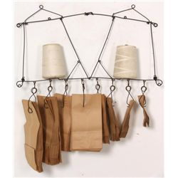 Twine & Paper Bag Hanging Rack
