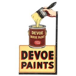 Large Devoe Paint 2 Sided Porcelain Sign