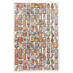 Full Sheet Topps Chewing Gum Stickers