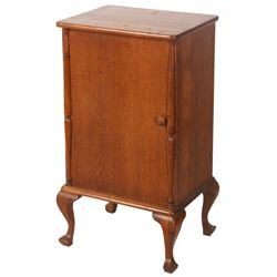 Oak Columbia Disc Record Cabinet