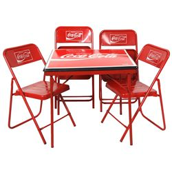 Coca-Cola Advertising Table & Chairs