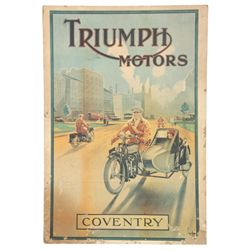 Triumph Motors Advertising Poster