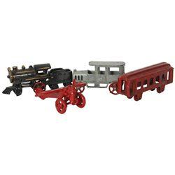 4 Cast Iron Toy Vehicles