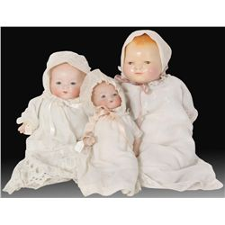 3 Antique Bye-Lo Baby Dolls