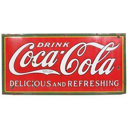 Large Coca-Cola Enamel  Sign