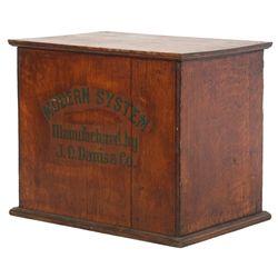 23 Drawer Oak Typesetter Cabinet