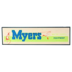 Myers Water Supply Equipment Hanging Sign