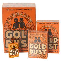 4 Fairbanks Gold Dust Washing Powder Boxes