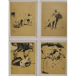 "AFTER CECIL ALDIN (1870-1935) A SERIES OF FOUR DOG PRINTS: 8"" x 6"" £30-50"