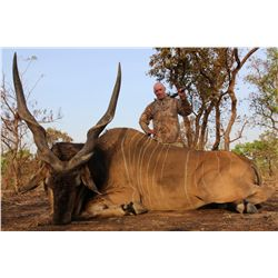 13-Day Lord Derby Eland Cameroon Savannah Safari for One Hunter and One Non-Hunter