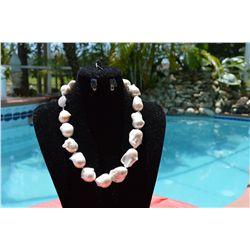 Classic Large Baroque Pearl Necklace