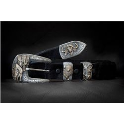 MD Big Five Safari Buckle and One Elephant Skin Belt