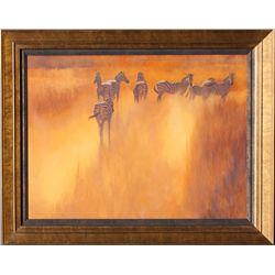 Dusty Trail  - Oil on Canvas by Kim Donaldson