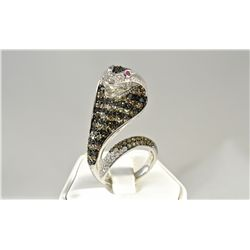 Custom Made Cobra Snake Ring
