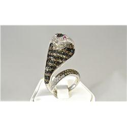 Custom Made Cobra Snake Ring