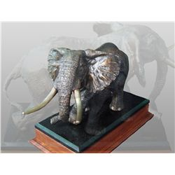 """TEMBO HATARI"" - Bronze by Raj Paul, #8 of 45 Limited Edition"
