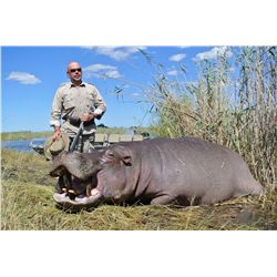 10-Day Hippo/Plains Game Hunt for One Hunter/One Non-Hunter with Larry Weishuhn in Namibia- Includes