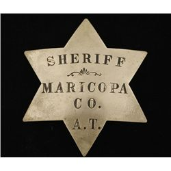 Old West Sheriff Cowboy Era Law Badge