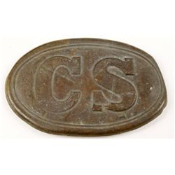 Confederate States 'CS' Enlisted Mans Belt Buckle