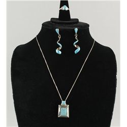 Zuni Necklace, Earrings & Ring Set