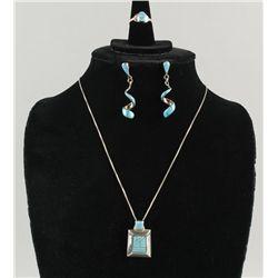 Zuni Necklace, Earrings & Ring Set