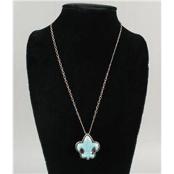Fleur de Lis Turquoise Necklace
