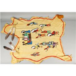 "Painting on Elk Hide ""Pow-Wow"""