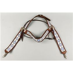 Beaded and Leather Horse Bridle