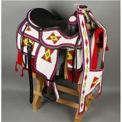 Lakota Sioux Fully Beaded Saddle