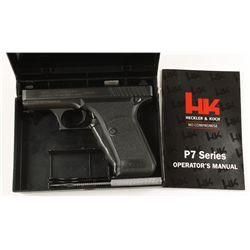 H and K Mdl P7 PSP Cal 9mm SN: 72264