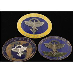 3 German WWII 1938 & 1939 NSFK Glider Badges