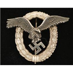 German World War II Luftwaffe Pilot Badge