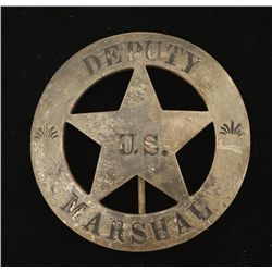 Old West US Deputy Marshal Law Badge