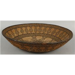 Apache Basket with Geometric Design
