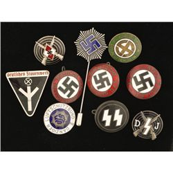 German World War II Enameled Party Badges