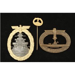 German World War II Naval U-Boat Submarine Badge