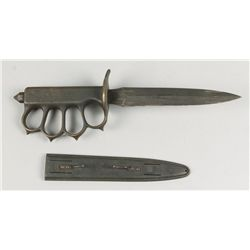 U.S. 1918 Fighting Knife with Brass Knuckle Guard.