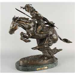 "Frederic Remington Bronze ""Cheyenne"""