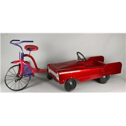 1950's Pedal Type Car and 1950's Tricycle
