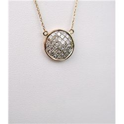 Exquisite 14 Karat Rose Gold Ladies Necklace