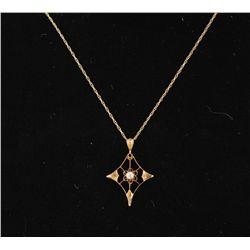 10K Vintage Diamond Necklace