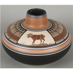 Navajo Pot by William Yazzies