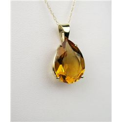 Dynamic 10 Karat Yellow Gold Ladies Pendant