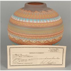Incised Carved Pot by Bernice Watchman