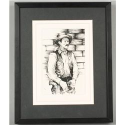 Pen and Ink of Sheriff by Hookway