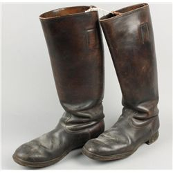 WWII German Leather Officers Boots